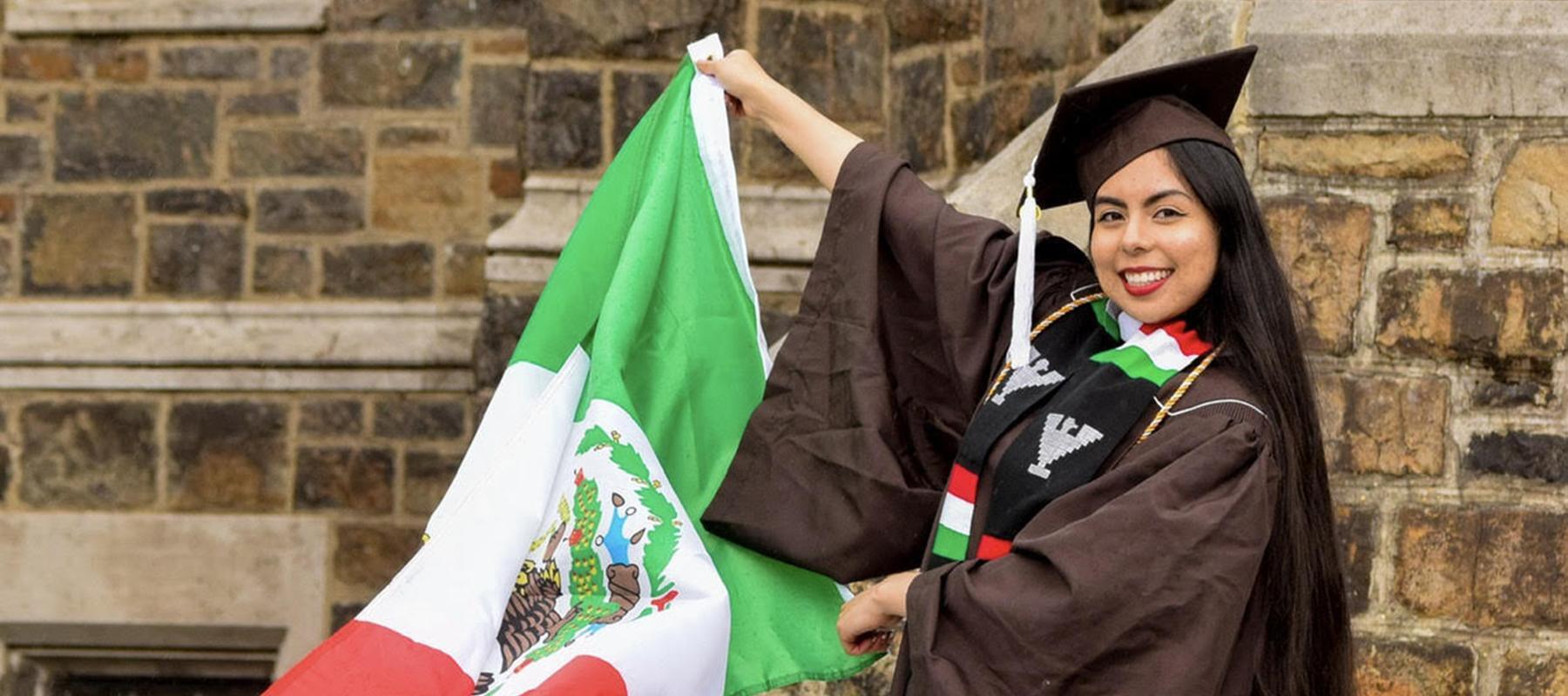 Diana Rivas Garcia preparing for graduation