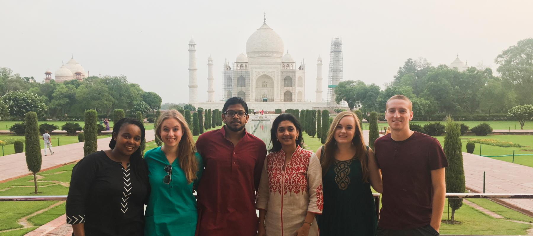 Iacocca International Internship students in India visited the Taj Mahal