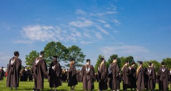 Students at Commencement 2019