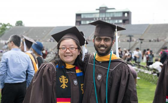International students at commencement