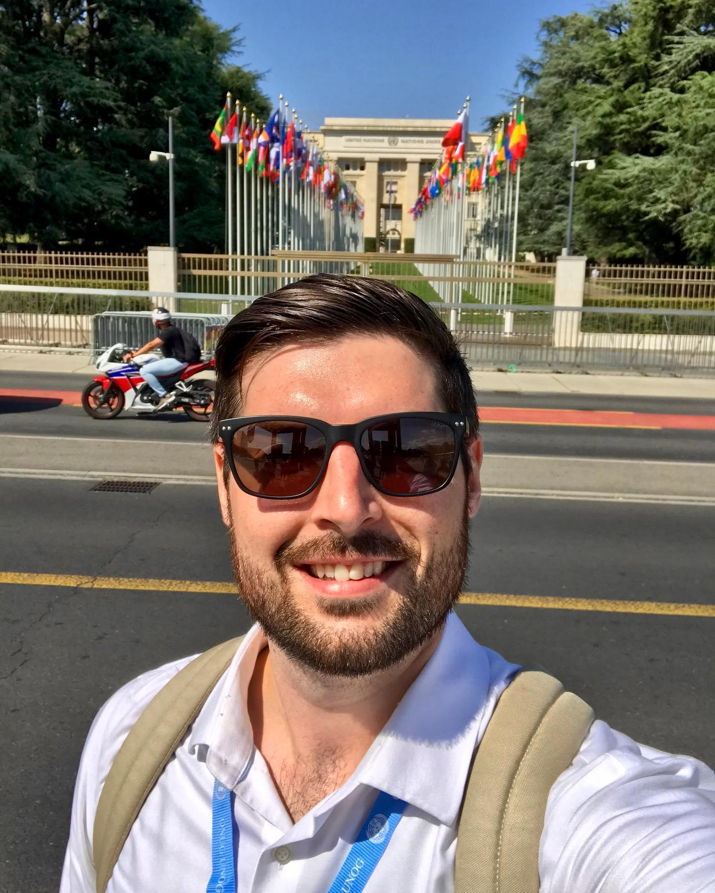 Brian Letts at the UN in Geneva