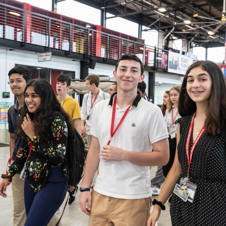 Students in the Iacocca Global Entrepeneurship Intensive visit The Factory in Bethlehem, Pennsylvania